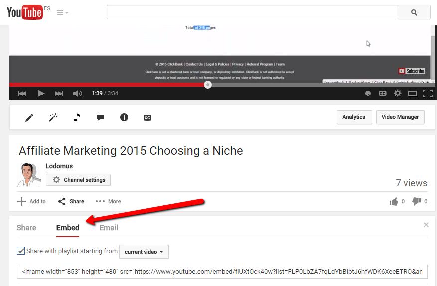 youtube embed options